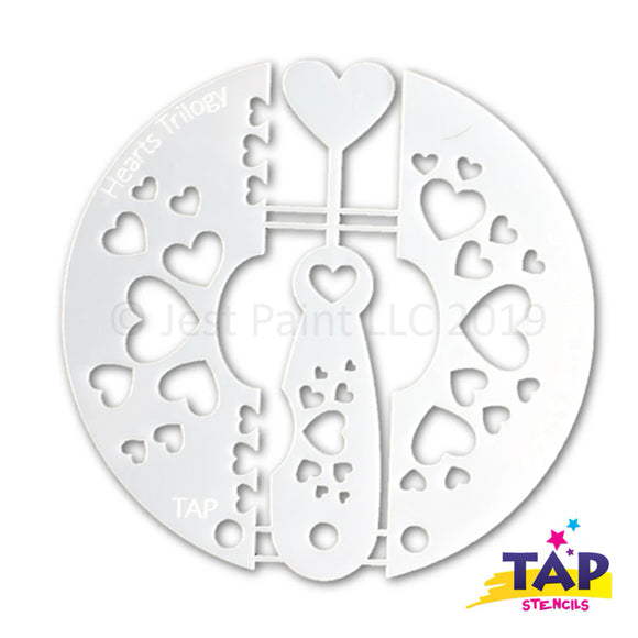 TAP Face Painting Stencil Set - Hearts Trilogy