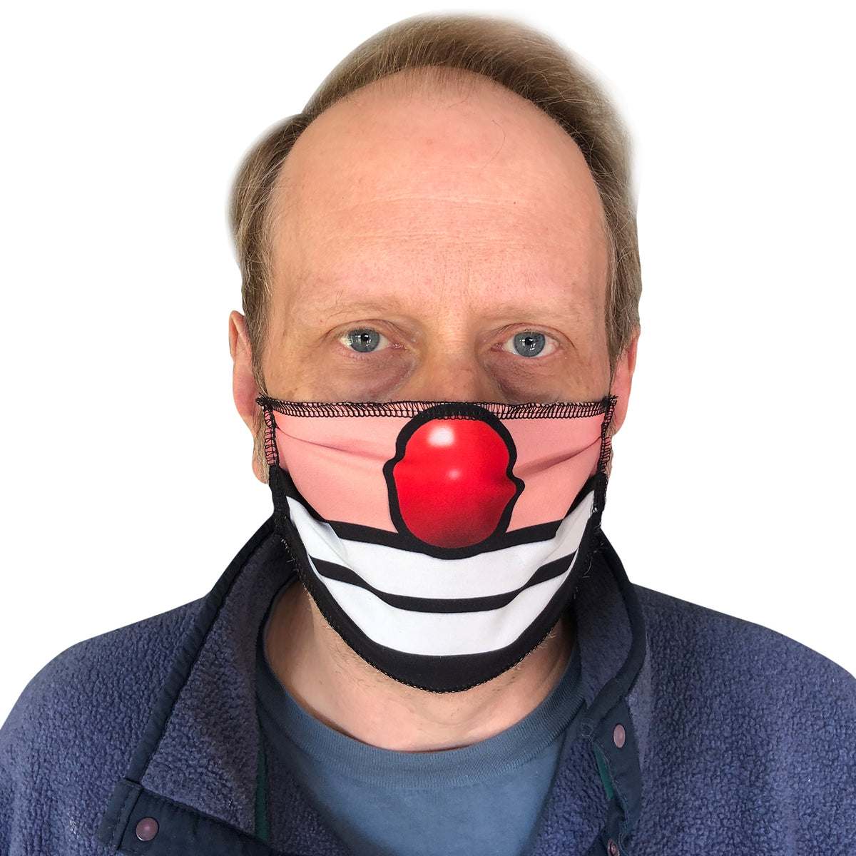 Face Painting Mask Covering - Clown Face Mask - Hobo
