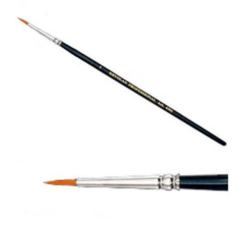 "Kryolan #1 Fine Point Round Brush (1/16"")"