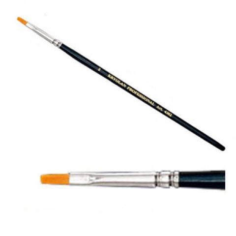 "Kryolan #2 Flat Brush (1/8"")"