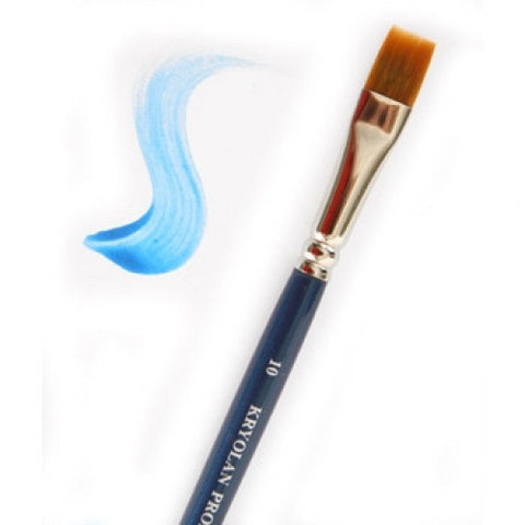 "Kryolan #10 Flat Brush (3/8"")"