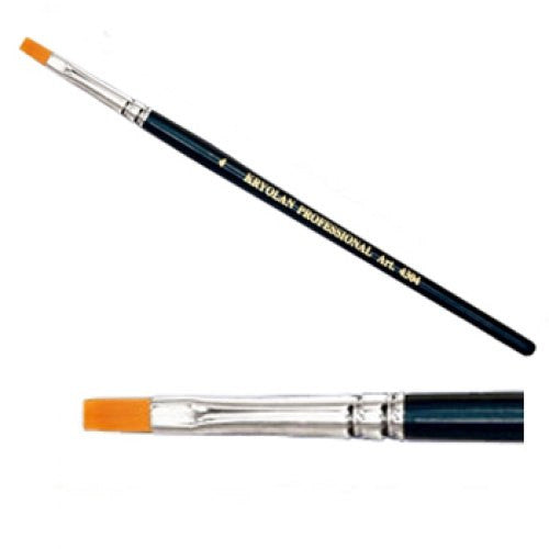 Kryolan #4 Flat Brush (3/16