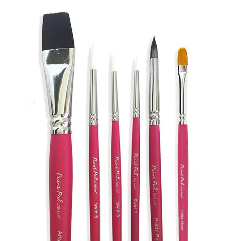 Silly Farm Paint Pal 6 Piece Classic Brush Set