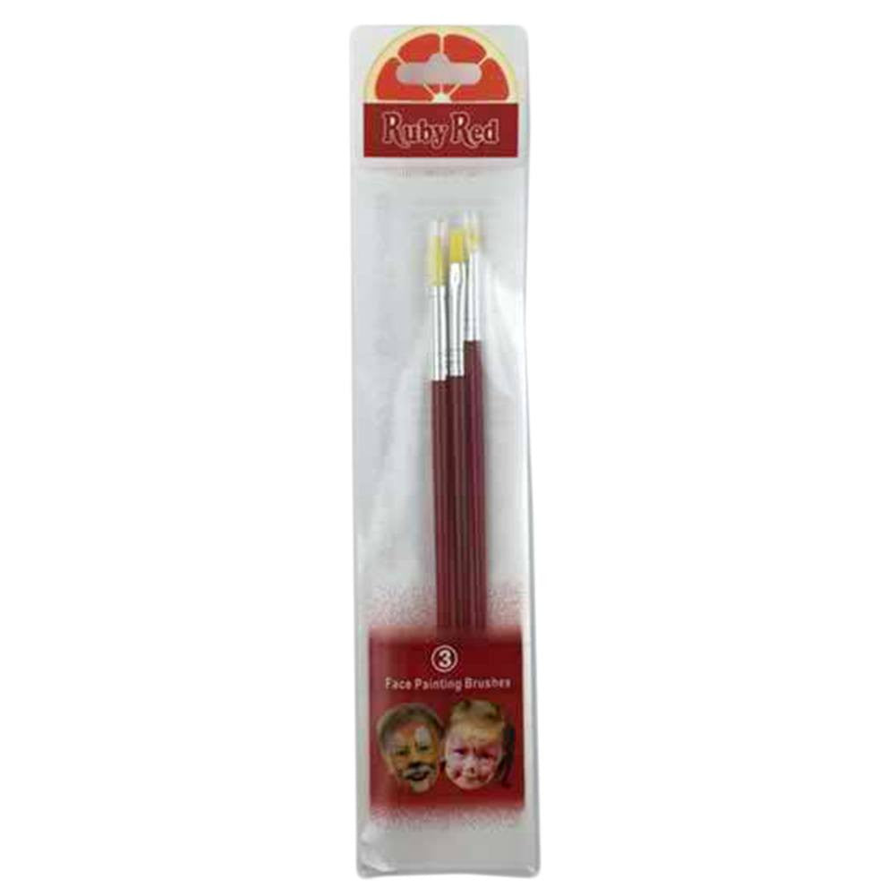 Ruby Red 3-Piece Brush Set
