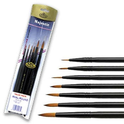 Majestic Round Brush Set (7 Pack)