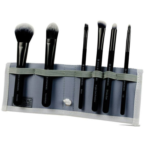 Royal and Langnickel MODA 7 Piece Total Face Brush Set - Black
