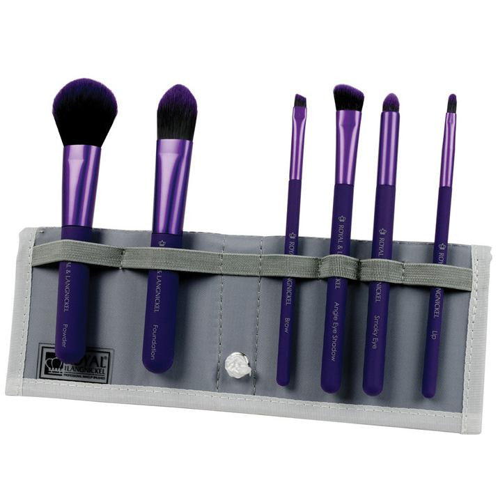 Royal and Langnickel MODA 7-Piece Total Face Brush Set - Purple