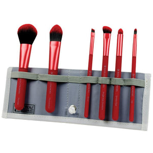 Royal and Langnickel MODA 7-Piece Total Face Brush Set - Red