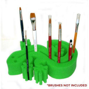 Ruby Red Gecko Brush Holder - Green