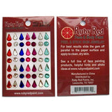 Ruby Red Peel & Stick Gems