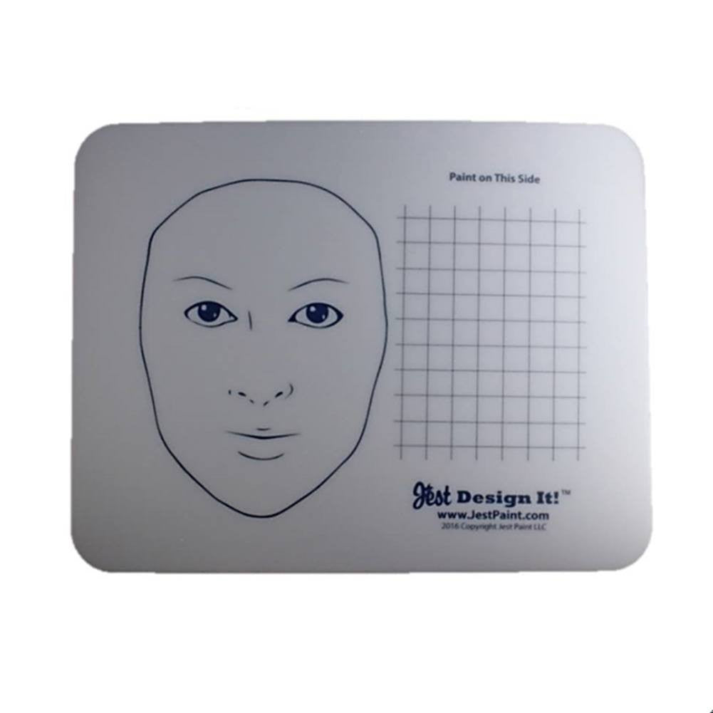 Design It Face Painting Practice Board - Adult Face and Grid