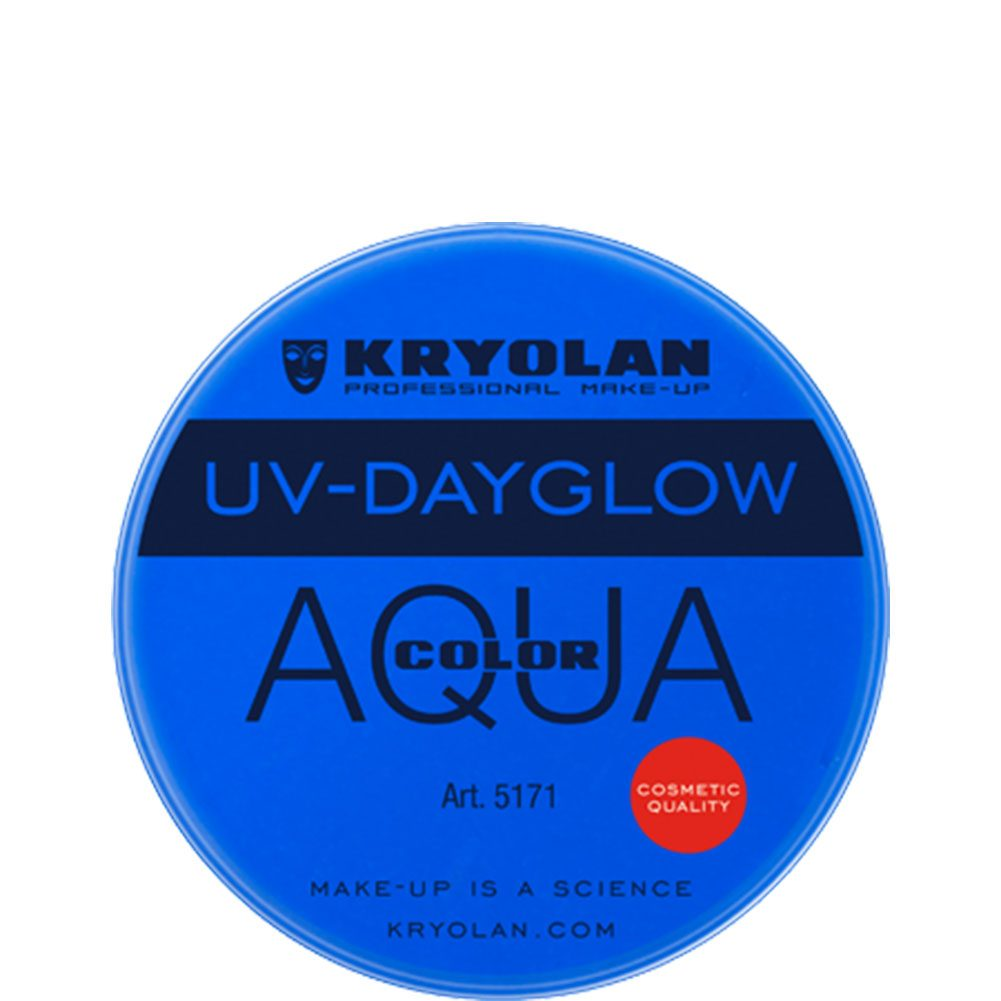 Kryolan Aquacolor Cosmetic Grade UV-Dayglow - Blue (8 ml)