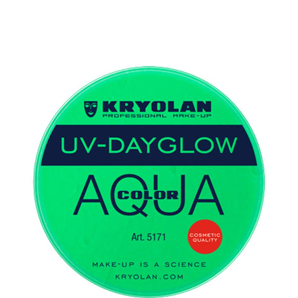Kryolan Aquacolor Cosmetic Grade UV-Dayglow - Green (8 ml)