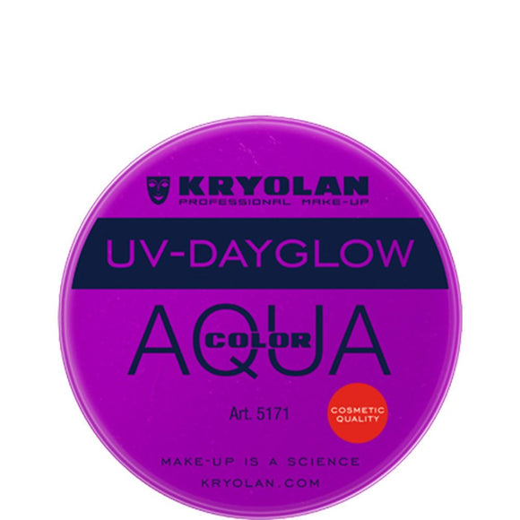 Kryolan Aquacolor Cosmetic Grade UV-Dayglow - Purple (8 ml)