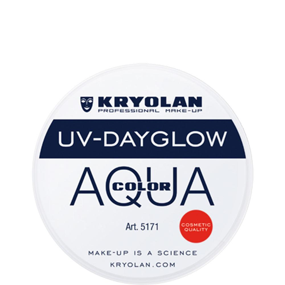 Kryolan Aquacolor Cosmetic Grade UV-Dayglow - White (8 ml)