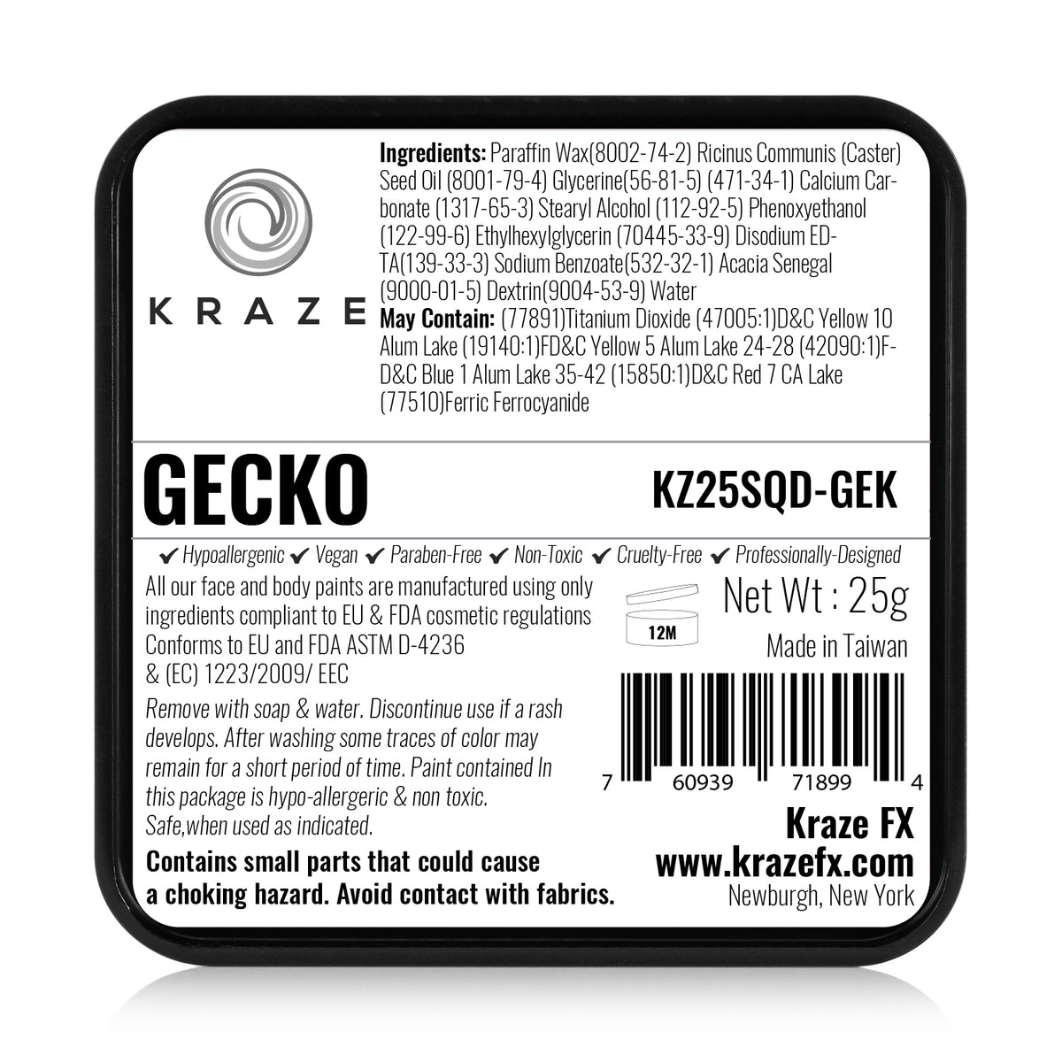 Kraze FX Domed Split Cake - Gecko (25 gm)
