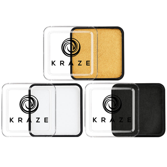 Kraze FX Face Paints - Gold, Black & White Value Pack (25 gm each)