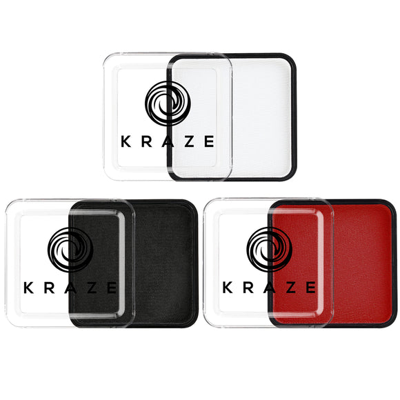 Kraze FX Face Paints - Red, Black & White Value Pack (25 gm each)