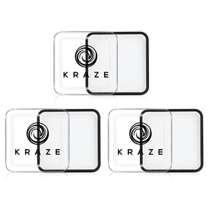 Kraze Square - White Face Paint Value Pack (25 gm) (3/Pack)