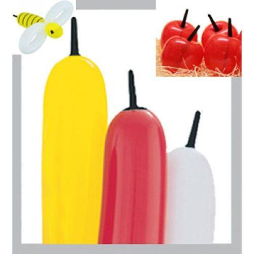 "Bee Body Balloons - 3"" x 21"" (100/bag)"