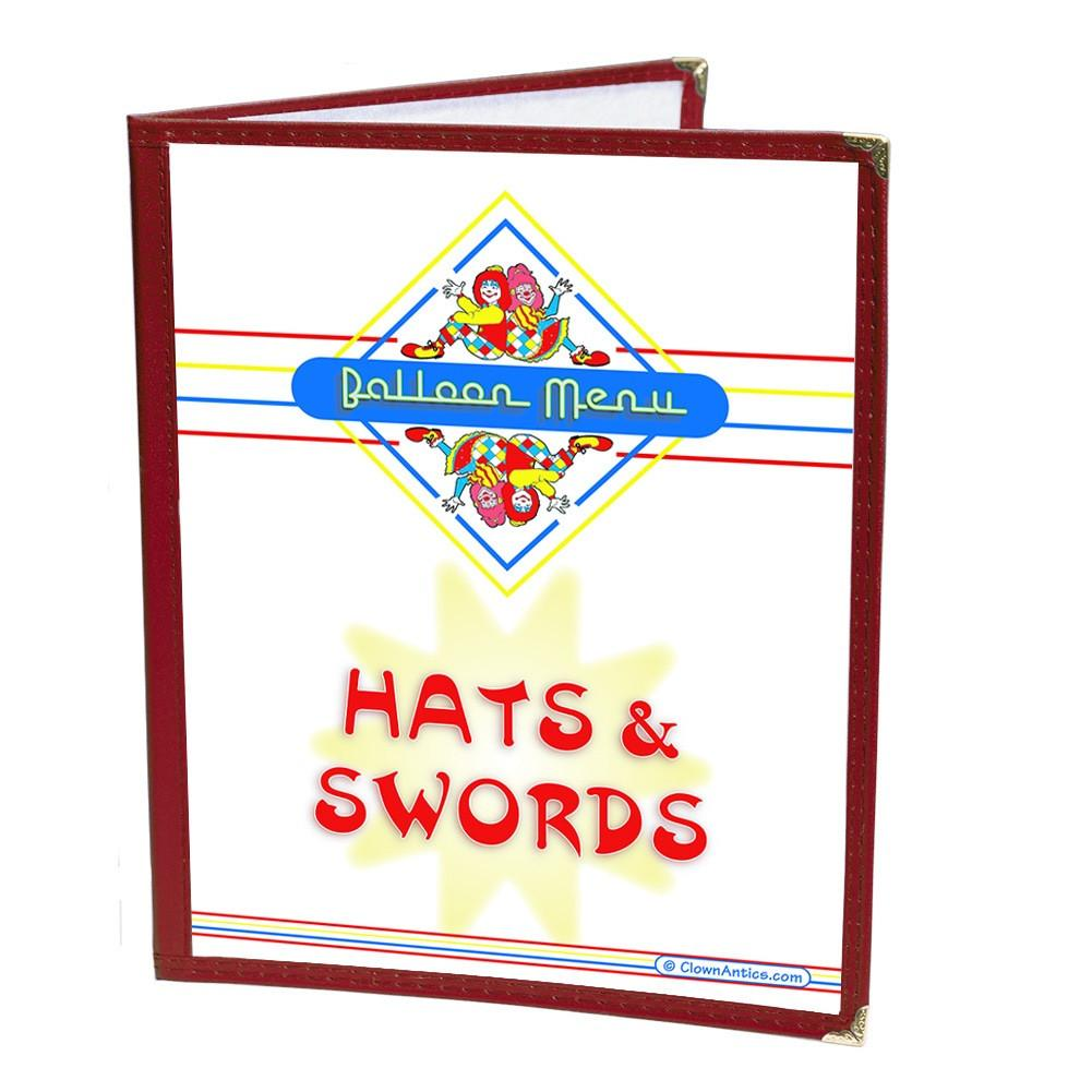 Restaurant Syle Balloon Menu - Hats & Swords