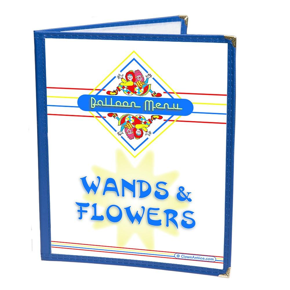 Restaurant Syle Balloon Menu - Wands & Flowers