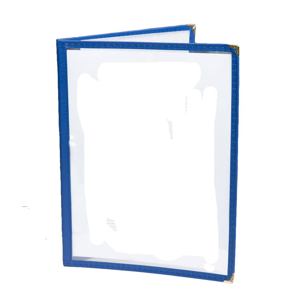 Two Pocket Menu Holder For Face Paint Designs (Blue)