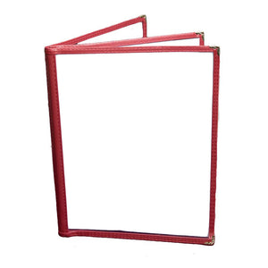 Three Pocket Menu Holder For Face Paint Designs (Burgundy)