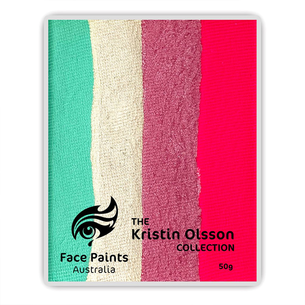 Face Paints Australia - Kristin Olsson Combo Cake - Coral Reef (50 gm)