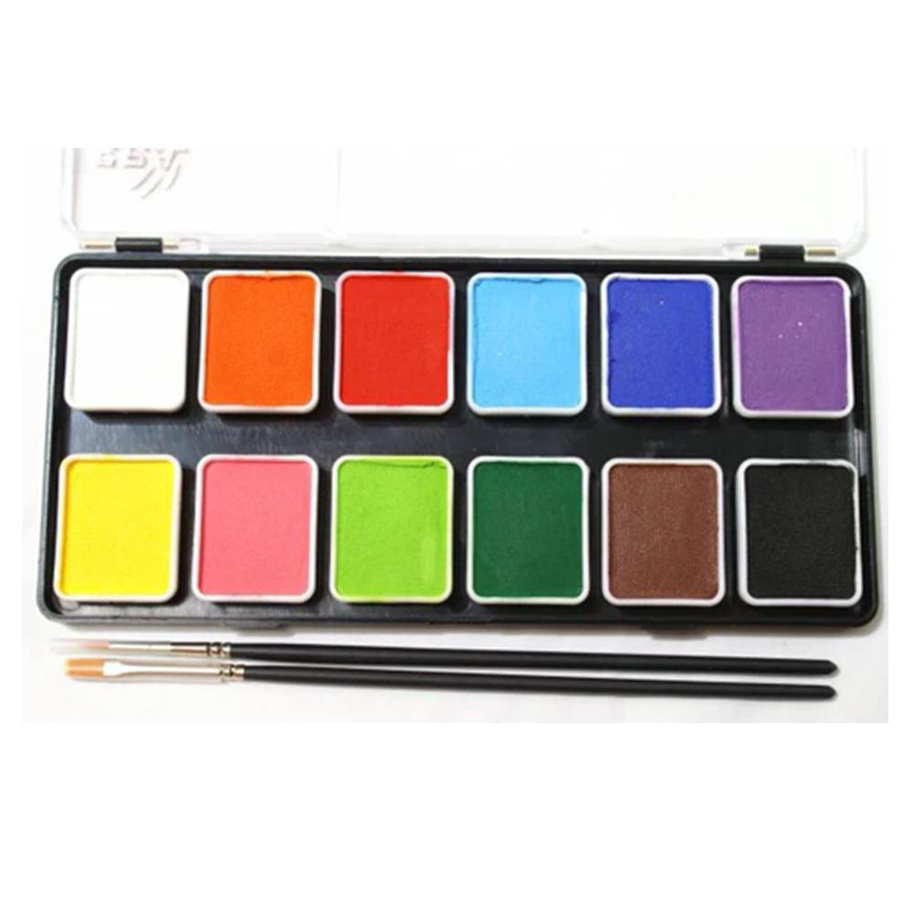 Face Paints Australia Essential Face Paint Palette (12 Colors/6 gm)