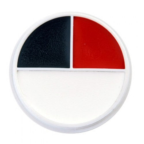 Ben Nye Color Makeup Wheel - RB (Red, White, Black)