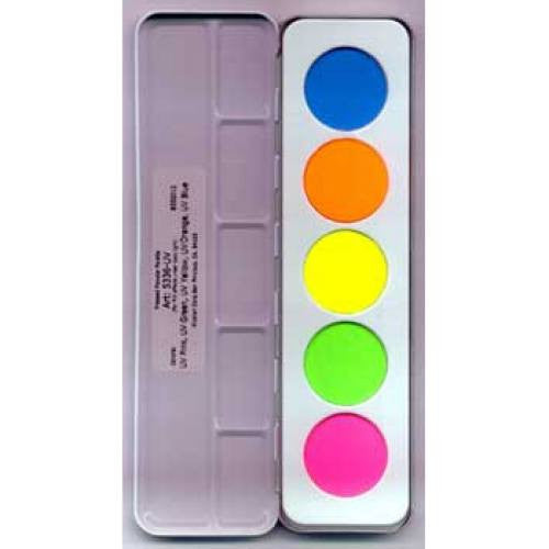 Kryolan UV-Dayglow Palette (5 Colors)