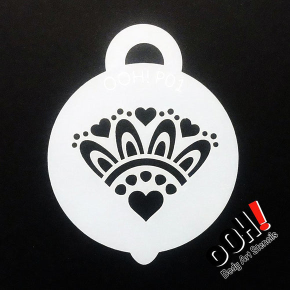 Ooh! Petite Stencil - Heart Cluster