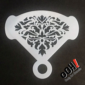 Ooh! Mirror Stencil - Damask