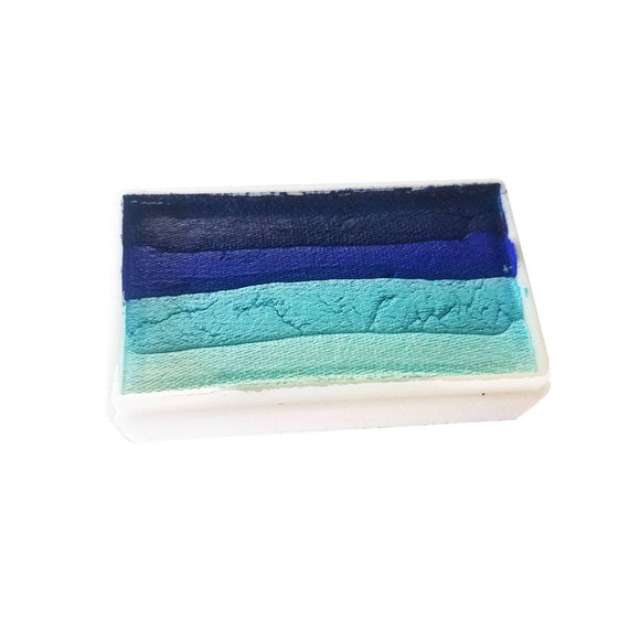 Partyxplosion Aqua Single Stroke Cake - Block I 43343 (28 gm)