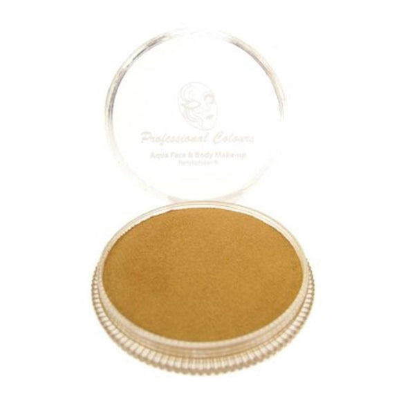 PartyXplosion Gold Aqua Face Paints - Pearl Gold (30 gm)