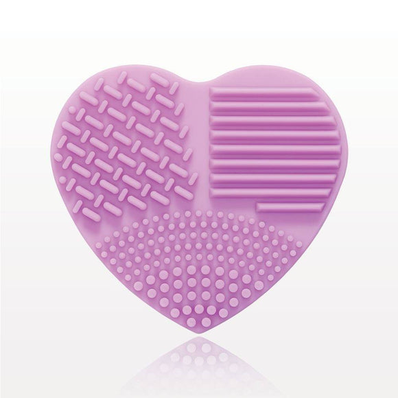 Purple Heart Shaped Makeup Brush Cleansing Pad