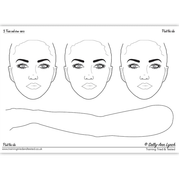 Sally-Ann Lynch Face Painting Practice Board - Faces & Arm 0013 (A2)