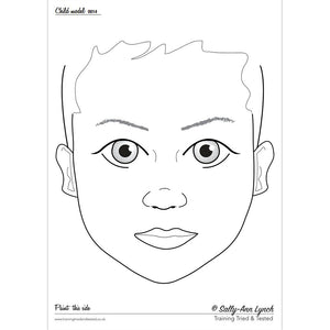 Sally-Ann Lynch Face Painting Practice Board - Child 0014 (A4)
