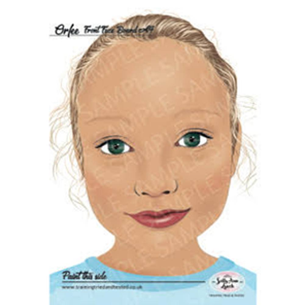 Sally-Ann Lynch Face Painting Practice Board - Orfee Child (A4)