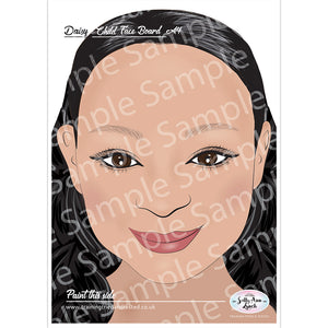 Sally-Ann Lynch Face Painting Practice Board - Daisy Child (A4)