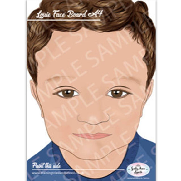 Sally-Ann Lynch Face Painting Practice Board - Louie Child (A4)