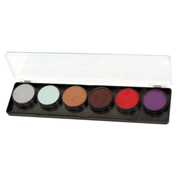 FAB Ghoulish Face Paint Palette (6 Colors - 11 gm)