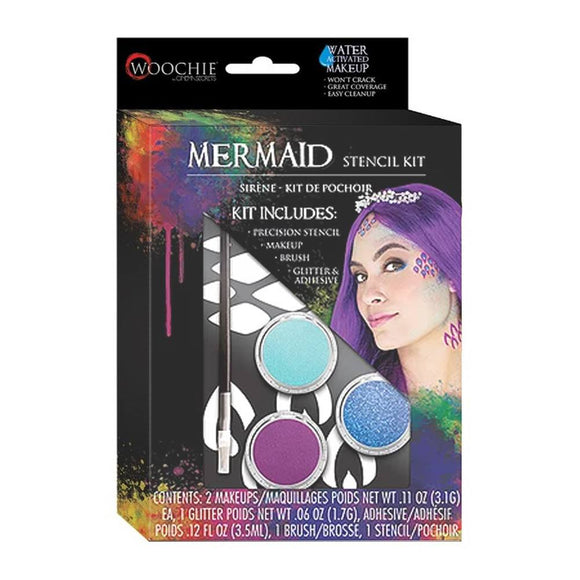 Woochie Halloween Makeup Stencil Kit - Mermaid