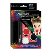 Woochie Halloween Makeup Stencil Kit - Harlequin