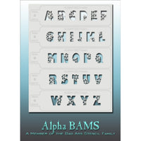 Bad Ass Alpha Stencils - Frozen - ALBAM005