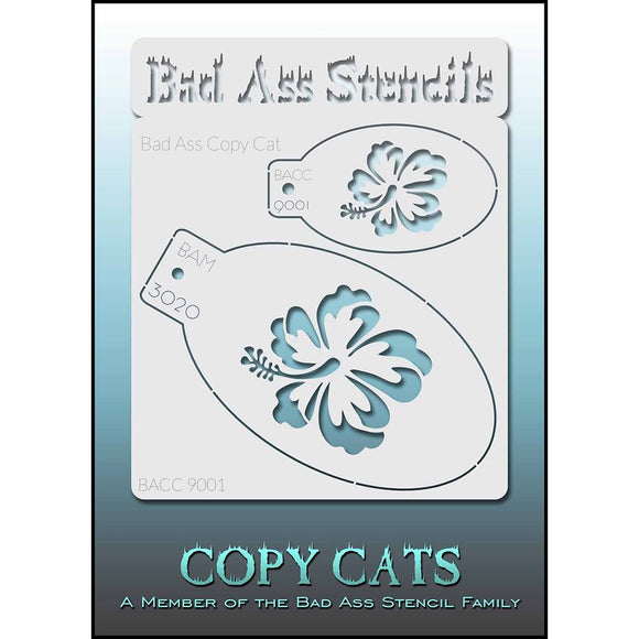Bad Ass Copy Cat Stencil - Hibiscus - BACC 9001