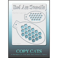 Bad Ass Copy Cat Stencil - Fish Scales - BACC 9004