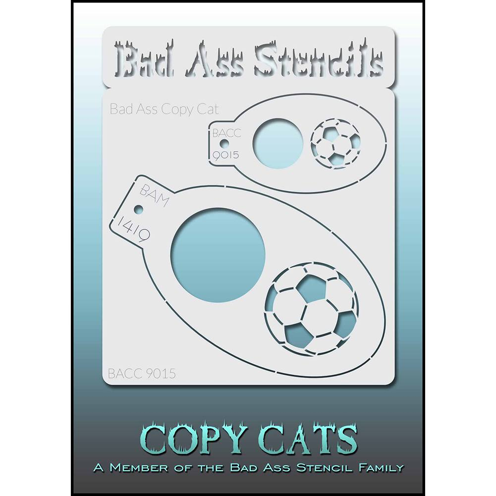 Bad Ass Copy Cat Stencil - Soccer - BACC 9015