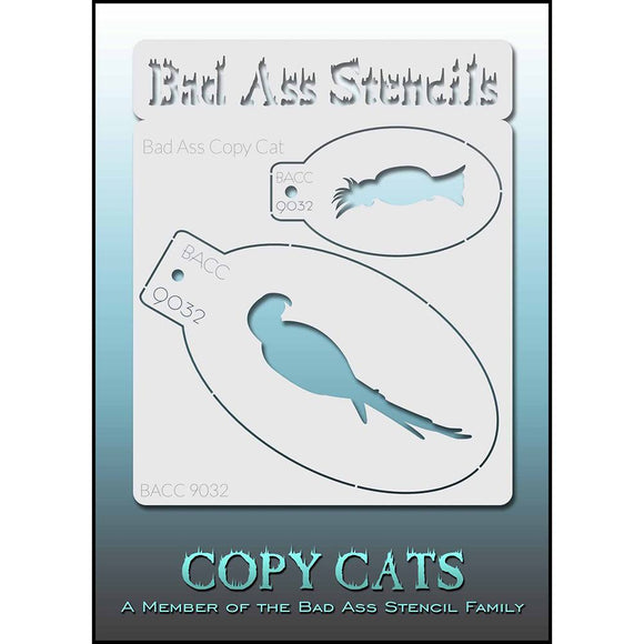 Bad Ass Copy Cat Stencil - Bird - BACC 9032